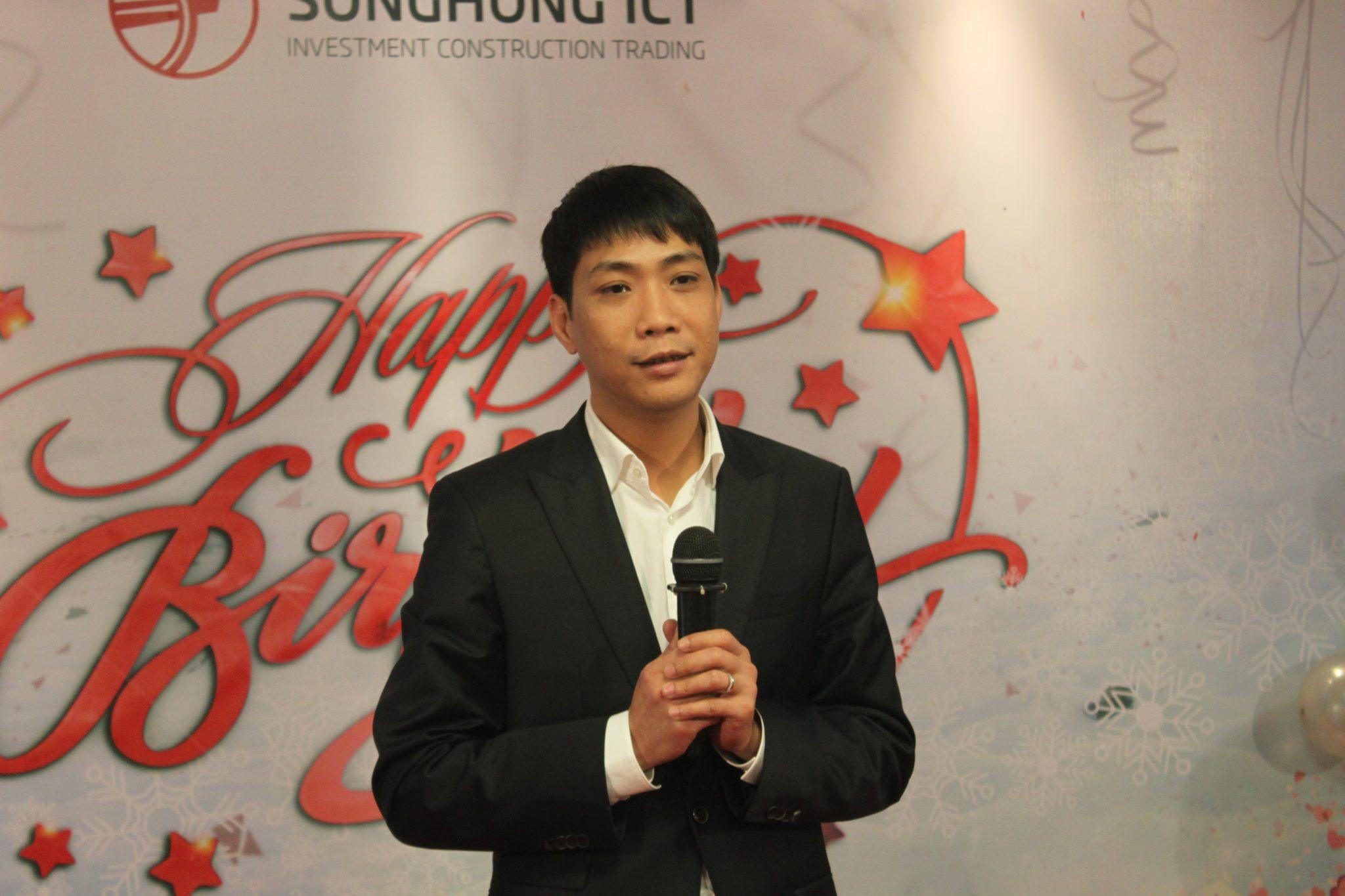 Chủ tịch HĐQT Đinh Xuân Kiên gửi những lời chúc mừng tới toàn thể các chị em công ty