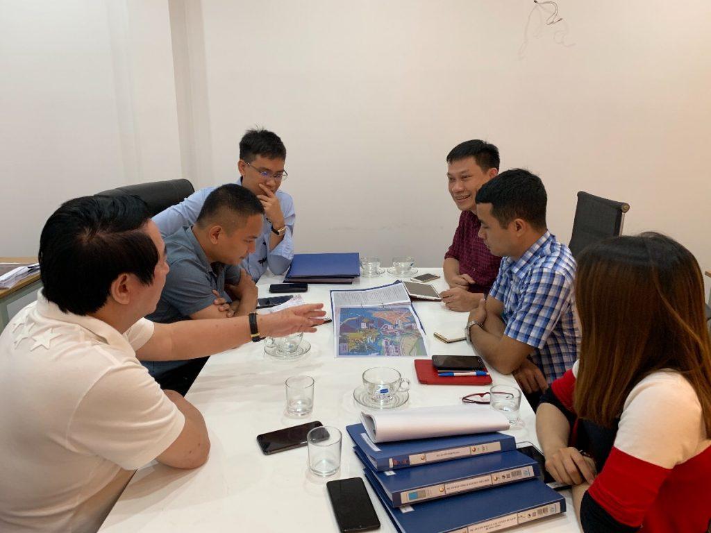 Sông Hồng ICT Phương Nam và CTCP Đầu tư Địa ốc Alpha họp triển khai Dự án Khu nhà ở Alpha Land
