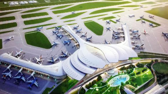 Sân bay Gò Găng tại xã Long Sơn được xây dựng gần 1 tỷ USD